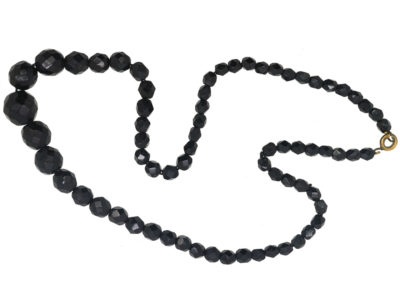 Victorian Vauxhall Glass Faceted Bead Necklace
