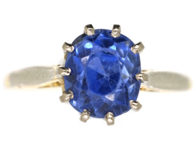 18ct Gold Ring Set With a Ceylon Sapphire