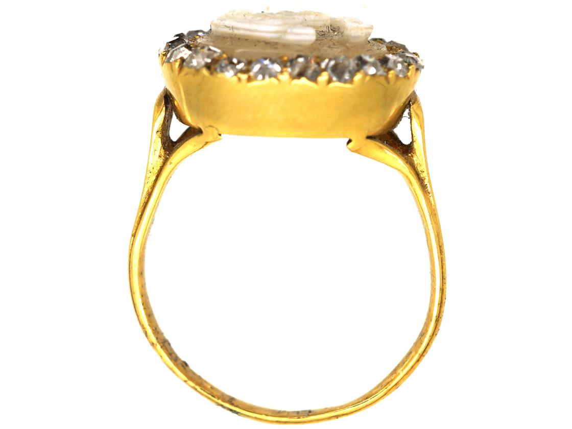 Early Georgian Diamond Cameo Ring