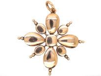 Georgian Gold, Amethyst & Natural Pearl Pendant