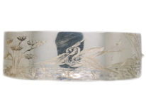 Victorian Silver Bangle With Stork Design