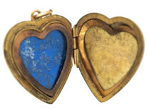 9ct Gold Back & Front Heart Shaped Locket
