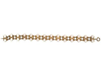 Silver Gilt & White Enamel Bracelet by Volmer Balmer