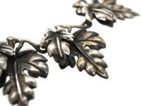 Rare Bernard Instone Silver Leaf Necklace, Bracelet & Earrings Set in Liberty of London Red Box