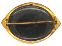 Victorian 15ct Gold Etruscan Revival Brooch with Locket Back