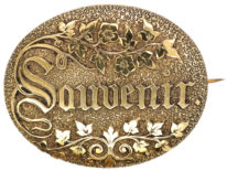 Victorian Silver Gilt Souvenir Brooch