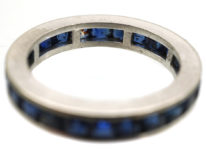 18ct White Gold Sapphire Eternity Ring
