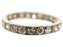 Art Deco Platinum & Diamond Eternity Ring