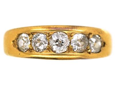 Edwardian 18ct Gold, Five Stone Diamond Ring