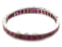 Art Deco 18ct White Gold Ruby Eternity Ring