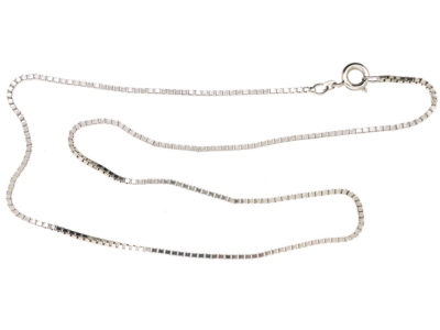 14ct White Gold Chain