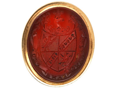 Georgian Seal with Carved Intaglio Carnelian Base