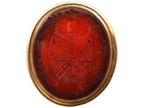 Georgian Seal with Carved Intaglio Carnelian Base