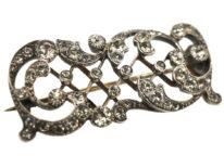 Edwardian Silver & Gold Wash Paste Brooch