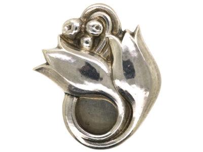 Silver Tulip Clip by Georg Jensen