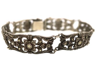 Silver & Marcasite Bracelet