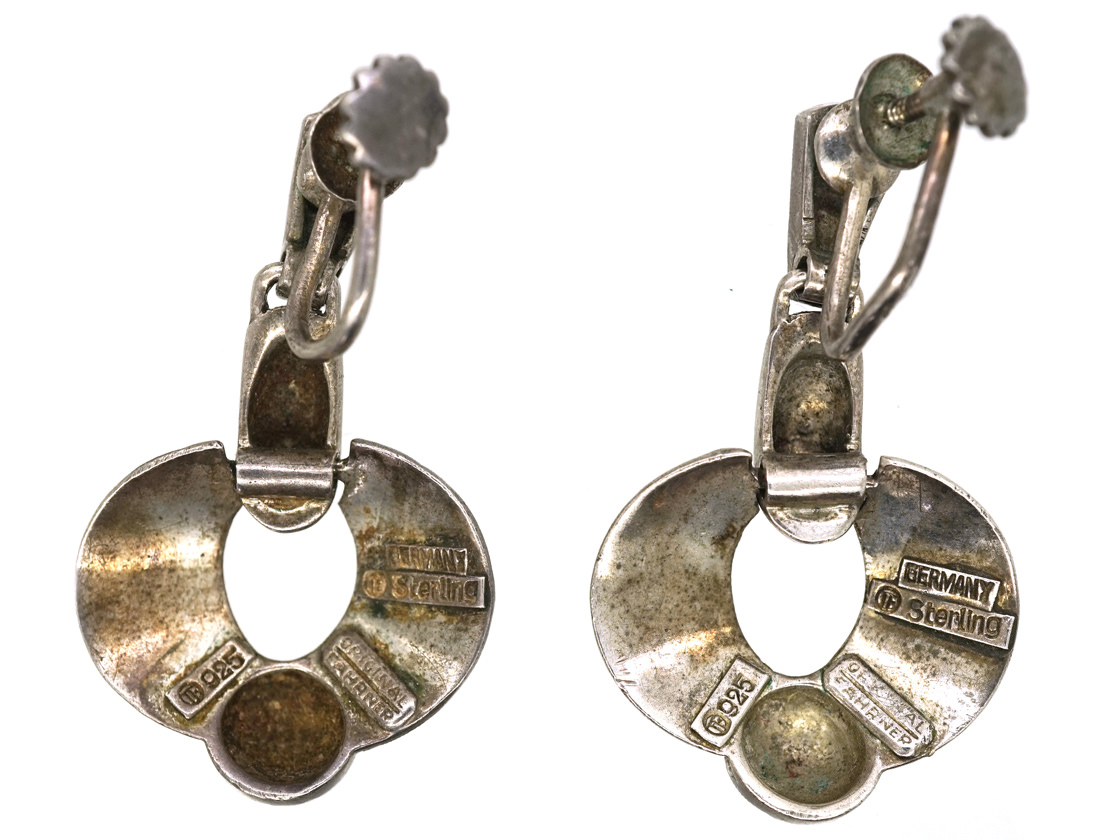 Silver & Marcasite Earrings by Theodor Fahrner