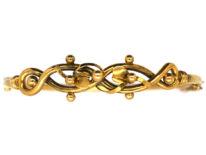 Edwardian 9ct Gold Bangle
