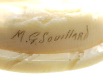 Victorian Carved Ivory Brooch of a Young Girl