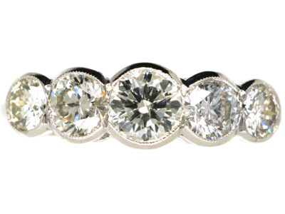 Platinum Five Stone Diamond Ring