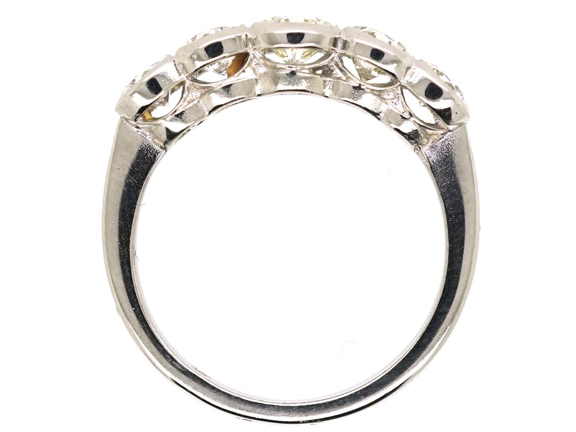 Platinum Five Stone Diamond Ring
