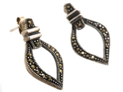Silver & Marcasite Drop Earrings