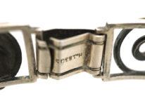 Art Deco Silver Leaf Motif Bracelet