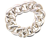 Silver Overlapping Circles Bracelet