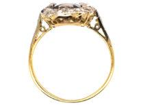 Art Deco Sapphire & Diamond Rectangular Ring