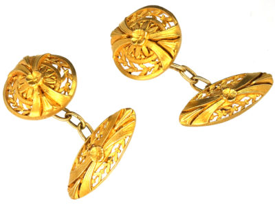 French Belle Epoque 18ct Gold Cufflinks