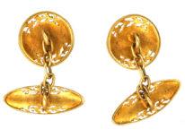 French Belle Epoque 18ct Gold Cufflinks