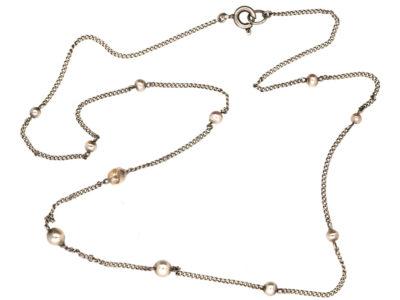 Silver & Pearl Chain