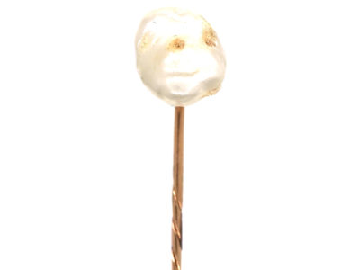 Large Baroque Pearl Tie Pin