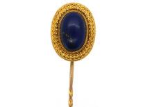 Victorian 18ct Gold & Lapis Lazuli Tie Pin