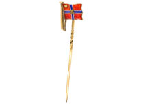 9ct Gold & Enamel Flag Tie Pin by Benzie for the Royal Lymington Yacht Club