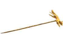 Edwardian 15ct Gold Tie Pin of a Running Fox