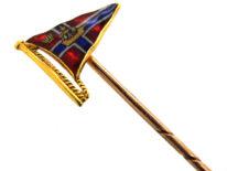 18ct Gold & Enamel Burgee Tie Pin for the Royal Lymington Yacht Club