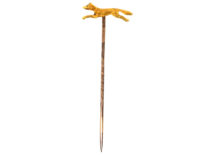 Edwardian 15ct Gold Running Fox Tie Pin