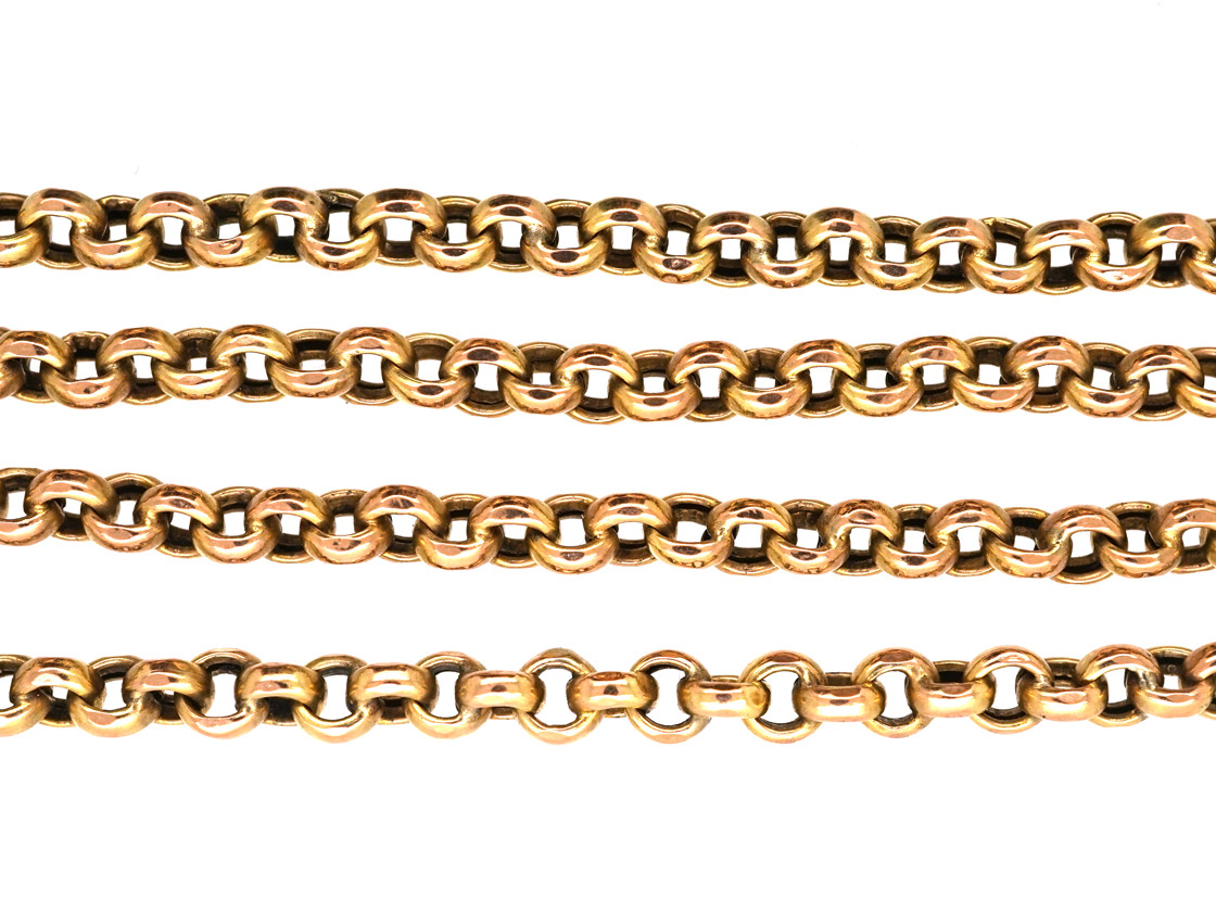 Victorian 9ct Gold Chain with Barrel Clasp