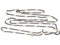 Gun Metal & Gold Plated Long Guard Chain