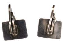 Georg Jensen Silver Chequerboard Cufflinks