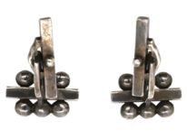 Georg Jensen Silver Cufflinks Designed by Harald Nielsen