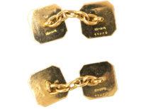 Art Deco 18ct Gold & Platinum, Lapis Lazuli Cufflinks