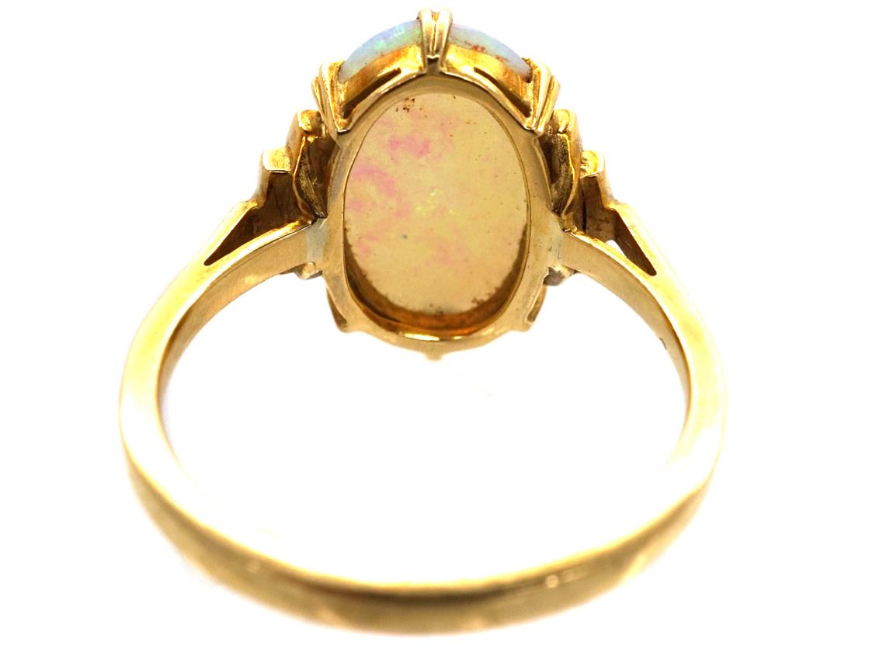 Art Deco 18ct Gold & Opal Ring