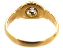 Edwardian 18ct Gold Single Stone Diamond Ring