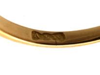 Edwardian 18ct Gold, Three Stone Turquoise & Diamond Ring