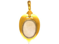 Victorian 18ct Gold, Ruby, Rose Diamond & Natural Split Pearl Large Pendant with Locket Back