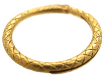 Georgian 18ct Gold Snake Split Ring