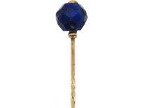 Art Deco Gold & Lapis Lazuli Tie Pin