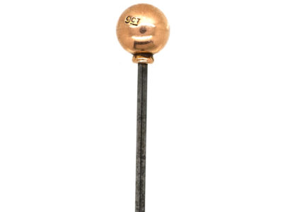 Edwardian 9ct Gold Ball Tie Pin